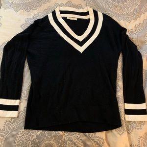 Preppy black and white sweater